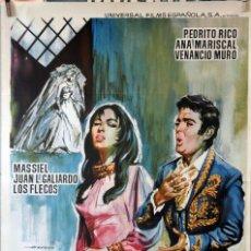 Cine: VESTIDA DE NOVIA. ANA MARISCAL. CARTEL ORIGINAL 1967. 70X100. Lote 135021186