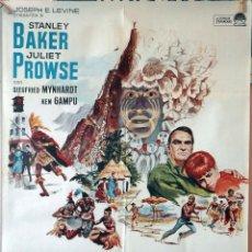Cine: DINGAKA. STANLEY BAKER. CARTEL ORIGINAL 1965. 70X100. Lote 135021658