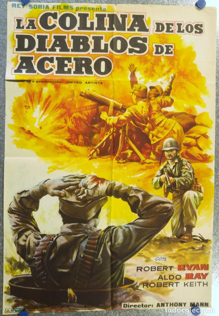 LA COLINA DE LOS DIABLOS DE ACERO. ROBERT RYAN, ALDO RAY, ROBERT KEITH. AÑO 1962 (Cine - Posters y Carteles - Bélicas)