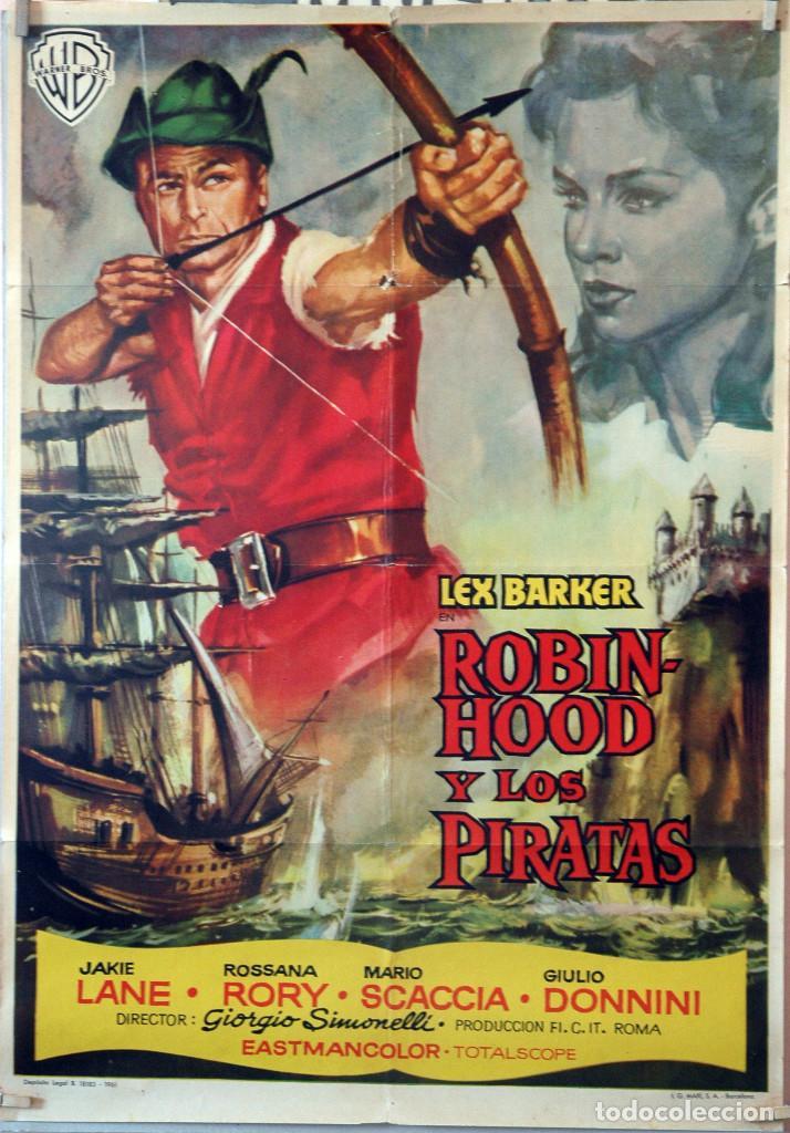 ROBIN HOOD Y LOS PIRATAS. LEX BARKER. CARTEL ORIGINAL 1961. 70X100 (Cine - Posters y Carteles - Aventura)
