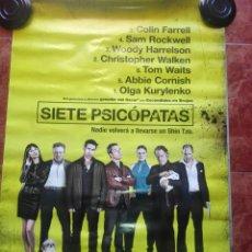 Cine: SIETE PSICÓPATAS. CARTEL SALA CINE. Lote 135115298