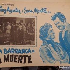 Cine: LA BARRANCA DE LA MUERTE - TONY AGUILAR - SARA MONTES. Lote 135120306