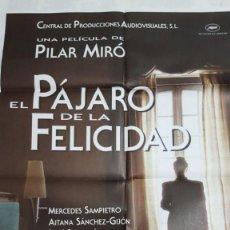 Cine: EL PÁJARO DE LA FELICIDAD, LOTE DE 10 CARTELES ORIGINALES IGUALES. Lote 189475290