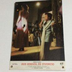 Cine: - CARTEL DE CINE - QUE GOZADA DE DIVORCIO, AÑO 1981? PROVENIENTE DE VIGO. SALIDA A 1€. Lote 135318786