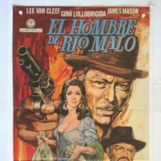 Cine: EL HOMBRE DE RIO MALO - POSTER CARTEL ORIGINAL - GINA LOLLOBRIGIDA LEE VAN CLEEF JAMES MASON . Lote 145436328