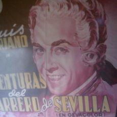 Cine: ~~~~ ANTIGUO CARTEL CIFESA, ORIGINAL DE LA PELICULA AVENTURAS DEL BARBERO DE SEVILLA. ~~~~. Lote 135374478