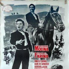 Cine: PUENTE DE COPLAS. ANTONUIO MOLINA-RAFAEL FARINA. CARTEL ORIGINAL. 70X100. Lote 135475794