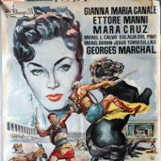 Cine: LA REBELION DE LOS GLADIADORES. VITTORIO COTTAFAVI. CARTEL ORIGINAL 70X100. Lote 135475894