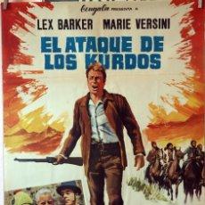 Cine: EL ATAQUE DE LOS KURDOS. LEX BARKER. CARTEL ORIGINAL 1966. 70X100. Lote 135476058