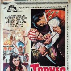 Cine: TORNEO A MUERTE. CARTEL ORIGINAL 1969. 70X100. Lote 135554178