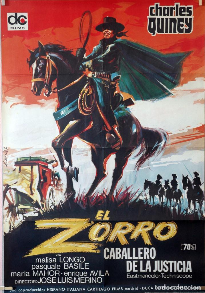EL ZORRO, CABALLERO DE LA JUSTICIA. JOSÉ LUIS MERINO. CARTEL ORIGINAL 1971. 70X100 (Cine - Posters y Carteles - Aventura)