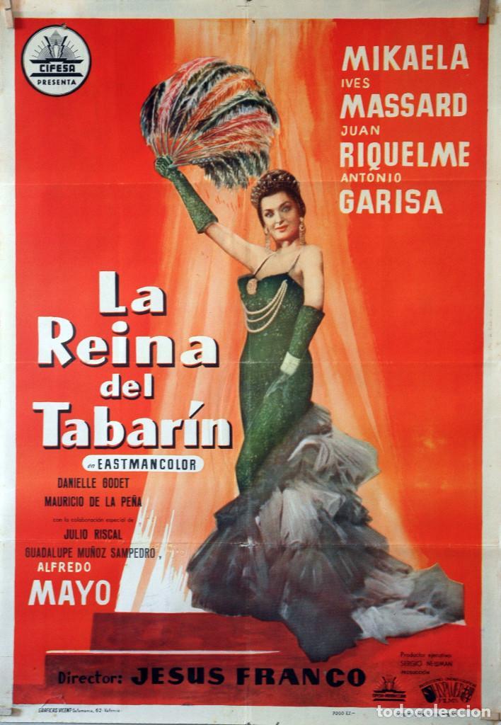 LA REINA DEL TABARÍN. ALFREDO MAYO-JESÚS FRANCO. CARTEL ORIGINAL 1960. 70X100 (Cine - Posters y Carteles - Clasico Español)