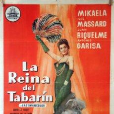 Cine: LA REINA DEL TABARÍN. ALFREDO MAYO-JESÚS FRANCO. CARTEL ORIGINAL 1960. 70X100. Lote 135554786