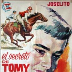 Cine: EL SECRETO DE TOMMY. JOSELITO.-ANTONIO DEL AMO. CARTEL ORIGINAL 1963. 70X100. Lote 135555690