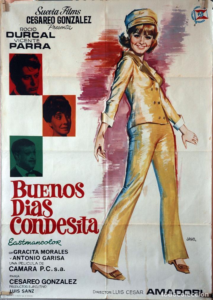 BUENOS DÍAS, CONDESITA. ROCÍO DURCAL-VICENTE PARRA. CARTEL ORIGINAL 1966. 70X100 (Cine - Posters y Carteles - Clasico Español)