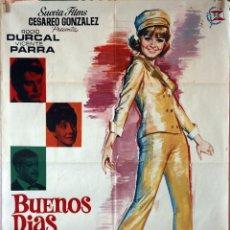 Cine: BUENOS DÍAS, CONDESITA. ROCÍO DURCAL-VICENTE PARRA. CARTEL ORIGINAL 1966. 70X100. Lote 135555954