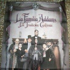 Cine: PÓSTER DE CINE ORIGINAL 70X100CM LA FAMILIA ADAMS LA TRADICIÓN CONTINÚA. Lote 207159236
