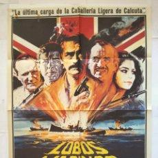 Cine: LOBOS MARINOS - POSTER CARTEL ORIGINAL - GREGORY PECK ROGER MOORE 2ª GUERRA MUNDIAL SUBMARIONO. Lote 135702071