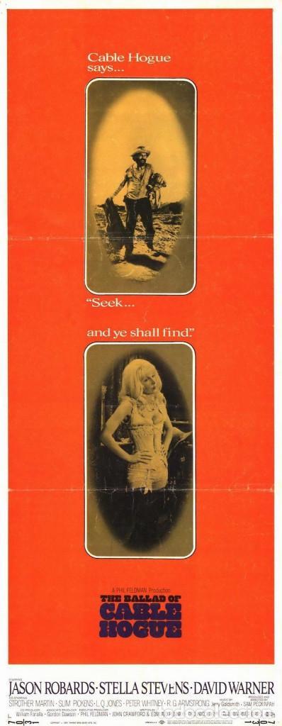 LA BALADA DE CABLE HOGUE.1970 THE BALLAD OF CABLE HOGUE ORIGINAL 1SH MOVIE POSTER.SAM PECKINPAH.1970 (Cine - Posters y Carteles - Westerns)
