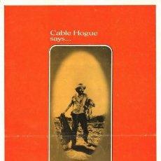 Cine: LA BALADA DE CABLE HOGUE.1970 THE BALLAD OF CABLE HOGUE ORIGINAL 1SH MOVIE POSTER.SAM PECKINPAH.1970. Lote 135954154