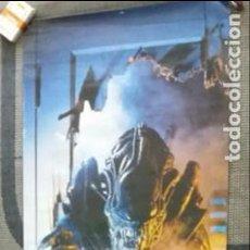 Cine: F- 830- ESPECTACULAR Y RARÍSIMO POSTER GIGANTE DE ALIEN GUERRERO- 1988. 53 X 1´58 CM.. Lote 136069142