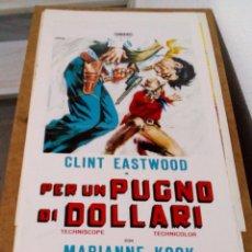 Cine: CLINT EASTWOOD.POR UN PUÑADO DE DOLARES.PER UN PUGNO DI DOLLARI.(1966). Lote 136163506