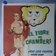 Cine: CARTEL - EL TIGRE DE CHAMBERI - J.L. OZORES, TONY LEBLANC - AÑO 1962 - BOXEO - MEDIDAS 70X50 CM.. Lote 136172948