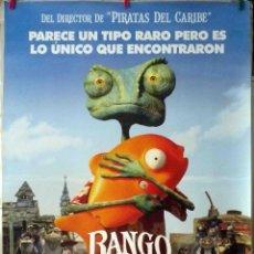 Cine: ORIGINALES DE CINE: RANGO (ANIMACIÓN) 70X100 - EN ROLLO. Lote 136208402