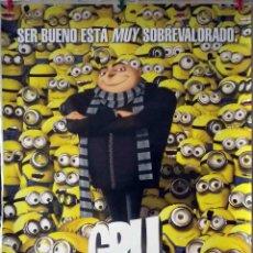 Cine: ORIGINALES DE CINE: GRU MI VILLANO FAVORITO - 70X100 EN ROLLO. Lote 136497170
