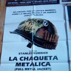 Cine: CARTEL POSTER DE CINE LA CHAQUETA METÁLICA AÑOS 80-90. Lote 136550266