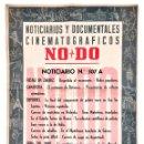 Cine: CARTEL DEL NOTICIARIO DOCUMENTAL NODO Nº 507 A (VER LOS ACONTECIMIENTOS) ORIGINAL . Lote 136653514