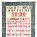 Cine: CARTEL DEL NOTICIARIO DOCUMENTAL NODO Nº 521 B (VER LOS ACONTECIMIENTOS) ORIGINAL. Lote 136653574