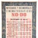 Cine: CARTEL DEL NOTICIARIO DOCUMENTAL NODO Nº 632 A (VER LOS ACONTECIMIENTOS) ORIGINAL. Lote 136653686