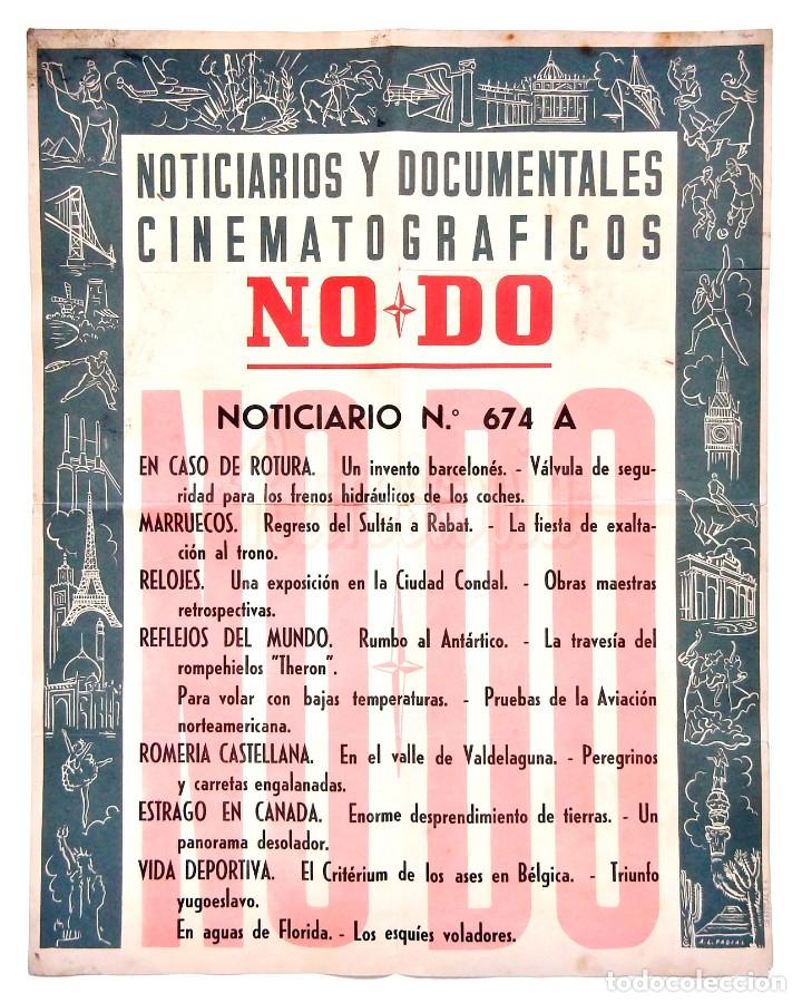 CARTEL DEL NOTICIARIO DOCUMENTAL NODO Nº 674 A (VER LOS ACONTECIMIENTOS) ORIGINAL (Cine - Posters y Carteles - Documentales)