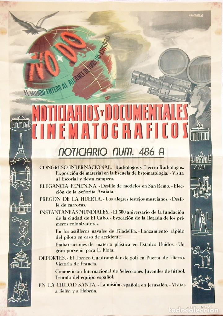 CARTEL DEL NOTICIARIO DOCUMENTAL NODO Nº 486 A (VER LOS ACONTECIMIENTOS) ORIGINAL (Cine - Posters y Carteles - Documentales)