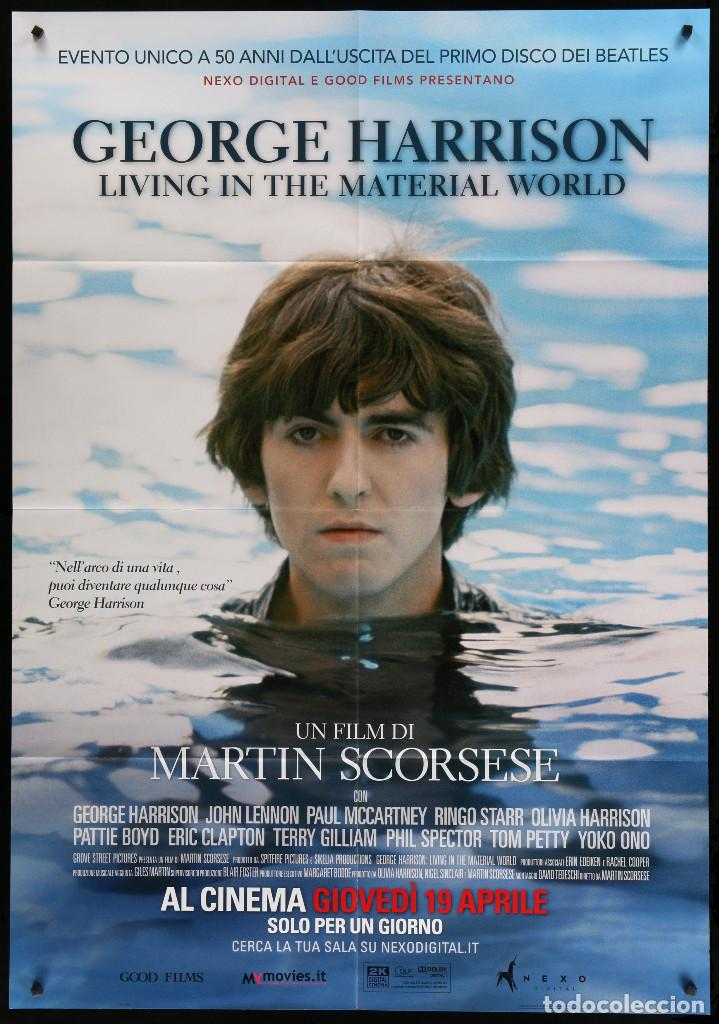 GEORGE HARRISON LIVING IN THE MATERIAL WORLD - 2011 - THE BEATLES - MARTIN SCORSESE - 99 X 140 CM (Cine - Posters y Carteles - Documentales)
