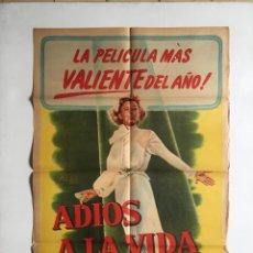 Cine: AMARGA SOMBRA - CARTEL ARGENTINO LITOGRAFICO ORIGINAL . Lote 136718610