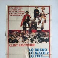 Cine: EL BUENO EL FEO Y EL MALO CARTEL ORIGINAL ARGENTINO CLINT EASTWOOD SERGIO LEONE. Lote 136725754