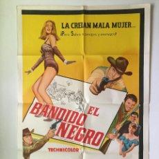 Cine: CABALGANDO HACIA EL ÁRBOL DEL AHORCADO CARTEL ORIGINAL ARGENTINO. Lote 136725942