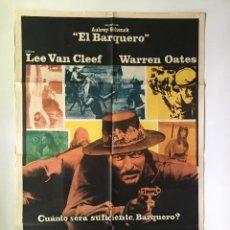 Cine: LOS FORAJIDOS DE RÍO BRAVO (BARQUERO) CARTEL ORIGINAL ARGENTINO LEE VAN CLEEF. Lote 136726138