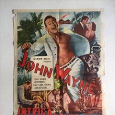 Cine: INTRIGA EN HONOLULU CARTEL ORIGINAL ARGENTINO JOHN . Lote 136727850