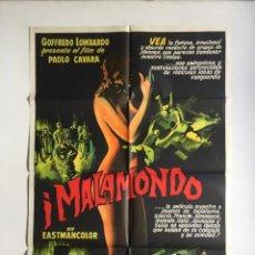 Cine: I MALAMONDO CARTEL ORIGINAL ARGENTINO - CINE MONDO - PAOLO CAVARA MODELO 2. Lote 136821062