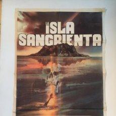 Cine: LA ISLA - POSTER CARTEL ORIGINAL ARGENTINO - MICHAEL CAINE DAVID WARNER THE ISLAND TERROR. Lote 136821522
