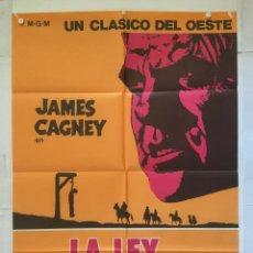 Cine: LA LEY DE LA HORCA - POSTER CARTEL ORIGINAL - JAMES CAGNEY ROBERT WISE IRENE PAPAS. Lote 136841490