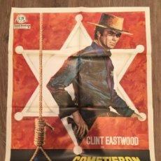 Cine: CARTEL DE CINE DEL ESTRENO DE LA PELÍCULA COMETIERON DOS ERRORES DE CLINT EASTWOOD (1968). Lote 136846396