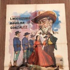 Cine: CARTEL DE CINE DEL ESTRENO DE LA PELÍCULA EL ÚLTIMO MEJICANO (1960). Lote 136852186