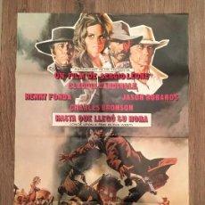 Cine: CARTEL DE CINE DEL ESTRENO DE LA PELÍCULA HASTA QUE LLEGÓ SU HORA (1968). Lote 136855573