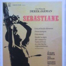Cine: SEBASTIANE DEREK JARMAN - POSTER CARTEL ORIGINAL - TEMA GAY - LEONARDO TREVIGLIO LINDSAY KEMP. Lote 295455148