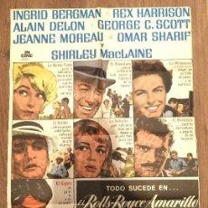 Cine: CARTEL DE CINE DEL ESTRENO DE LA PELÍCULA EL ROLLS-ROYCE AMARILLO (1964). Lote 136857105