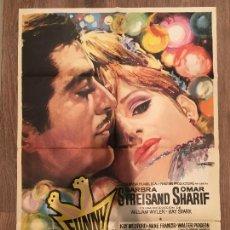 Cine: CARTEL DE CINE DEL ESTRENO DE LA PELÍCULA FUNNY GIRL (1968). Lote 136857957